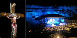 Det blir en tredje föreställning på Dalhalla av rockmusikalen Jesus Christ Superstar. Bilden är ett montage.