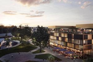 Diös planerar byggstart för Hotell Clarion Riverside under senare delen av året.Skiss: Krook & Tjäder