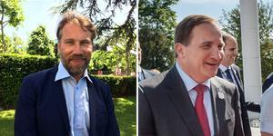 Både Statsministern och Foppa är på plats i Schweiz. Bild: Ingela Ahlberg/TT & Stina Stjernkvist/TT