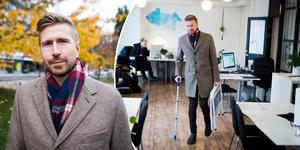 Sundsvalls Tidning träffar Joakim Lundström i mäklarfirman Husman Hagbergs lokaler i centrala Sundsvall – här har den 35-årige hockeyprofilen, med ett förflutet i både Sundsvall Hockey och Timrå IK, nyss påbörjat sin nya karriär.
