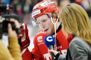 Lukas Zetterberg hann göra tre mål på 25 matcher för Timrå innan han lämnade för en större roll i Tingsryd.