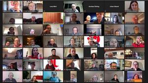 75 medlemmar i Falu Arbetarekommun deltog digitalt vid årsmötet. Foto: privat/skärmdump