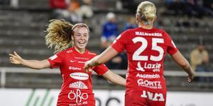Heidi Kollanen har gjort två mål för Kif Örebro. På tisdagskvällen blev hon för första gången målskytt även i finska A-landslaget. Arkivfoto: Jessica Gow/TT