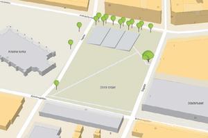 Etableringen mäter 736 kvadratmeter enligt skisserna vid ansökan till Falu kommun tidigare i vår. Illustration från bygglovsansökan.