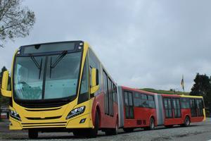 Scania ska leverera sammanlagt 741 gasbussar till Colombias huvudstad Bogotá.  Foto: Scania