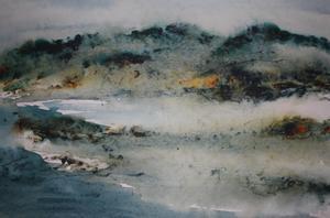 Akvarell av Gunilla Vestman