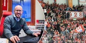 Jörgen Wahlberg, klubbchef i Timrå IK, drömmer om samma stöd i det kommande kvalet som i det förra.