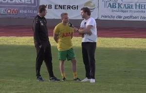 Ludvika FK:s Max Larsson blev sånär matchhjälte mot Vansbro.