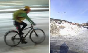 Skribentens första cykeltur 2018 slutade inte lyckligt. Bild: Stian Lysberg Solum/TT / Privat