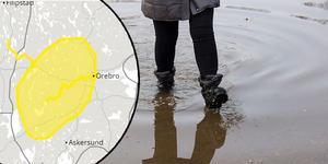 SMHI varnar för översvämningsproblem på grund av hög vattenflöden i Svartån till Örebro,  i Timsälven till Karlskoga och i mindre vattendrag i sydvästra Örebro län.