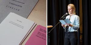 Poeten och förläggaren Beata Berggren läste ur poesiboken