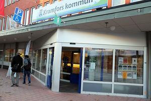 Här är Inger Bergkvist nya arbetsplats, Kramfors kommunhus.