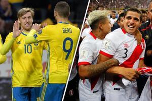 Emil Forsberg och Marcus Berg ställs mot Aldo Corzo och hans peruanska landslagskamrater i VM-genrepet.