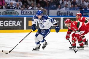 Leksandskaptenen Martin Karlsson får mest istid av Leksands forwards. Foto: Daniel Eriksson / BILDBYRÅN