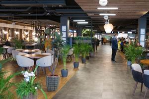 Efendys foodcourt, med tre restauranger under samma tak, drar mycket kunder till Hälla shopping, menar flera näringsidkare.