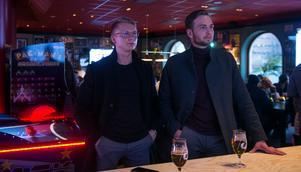 Henrik Karlsson och Emil Nygren tyckte att det var riktigt jobbigt att följa matchen.