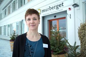 Sofia Kling från Region Jämtland Härjedalen pratade samisk hälsa på länets konferens om nationella minoriteter.
