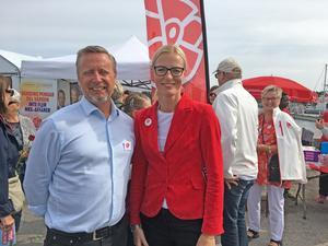 Kommunalrådet Patrik Isesatad (S) och oppositionslandstingsrådet Erika Ullberg (S).