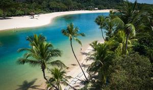 Palawan Beach, Sentosa Island, en kort resa från city.