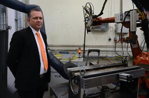 Håkan Gustavsson, vd för Hydroforming Design Light kom till företaget i höstas och har nu hunnit sätta in sig i verksamheten.