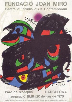 Ett exempel på när ögonsjukdomen börjat påverka Miró.