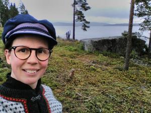 Knapp Britta Thyr (MP), Klåvasten Härnön Foto: Privat