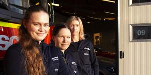 Emelie Lund, Elin Nyström och Jenny Skoglund.