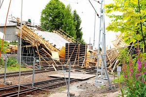 I drygt två veckor var tågtrafiken inställd förbi Ludvika på grund av rasolyckan.