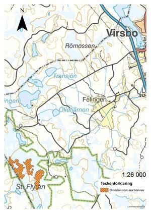 Bränningsområdet i Stora Flyten utanför Virsbo.