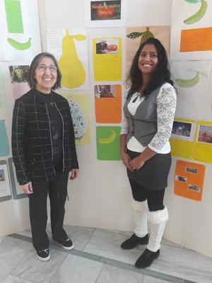 SFI-lärare Waqar Hashem och Malu Renström.