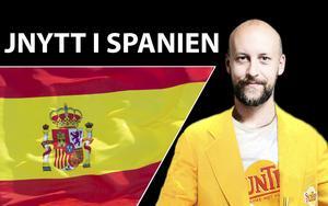 Peter Wilsson åker till Spanien på fredag för att bevaka J-Södras träningsläger, dock inte i dessa kläder.  OBS: Montage