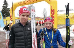 Joel och Sara Andersson gjorde fina insatser för IFK Moras ungdomslag i Stafettvasan.