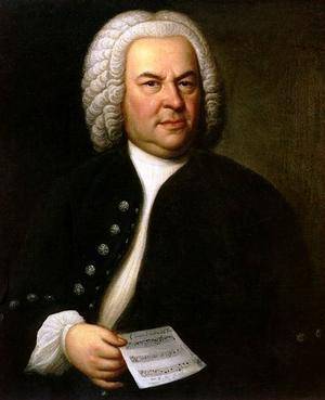 Johann Sebastian Bach 1746. Målning av Elias Gottlob Haussmann.