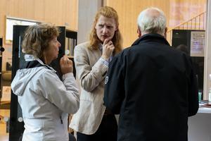 Poeten och kulturstipendiaten Olle Östergren pratade med besökare.