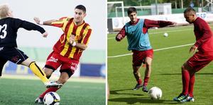 Robert Massi och Rabi Elia under tiden som Syrianska-spelare. Arkivfoto: LT.