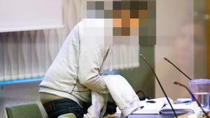 31-åringen under rättegången i december.