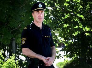 Lennart Westberg i uniform. Fotograf: Kristoffer Hellman.