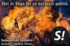 Satanistiskt initiativ fick några hundra röster i förra valet. Bild: Satanistiskt initiativ