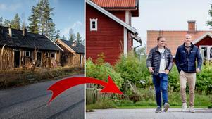 Före och efter. Joakim Gabenius och Erik Bock  står bakom Björnhammarens förvandling.