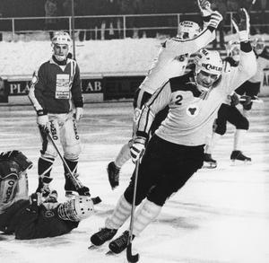 Kjell Englund var en hårding på planen, men också placeringssäker med blick för spelet.