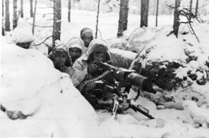 Finska soldater under vinterkriget.
