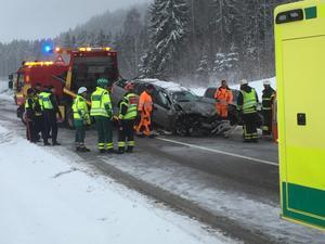 Larmet om olyckan kom vid 09.00-tiden på torsdagsförmiddagen.