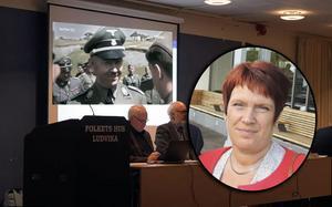 Fotomontage: Arkivbild och skärmdump från Youtube.Nazipropaganda i TV-sändning från fullmäktige – ordförande: