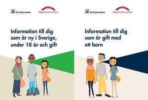 Socialstyrelsen och Migrationsverket har tagit fram informationsbroschyrer om barnäktenskap.
