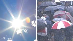 Veckan inleds med sol och värme – men sedan slår vädret om.