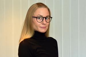 Joanna Ljunggren, presskommunikatör vid Trafikverket. Foto: Hanna Wallén/ Trafikverket