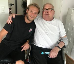 Alexander Younan fick i tisdags ta ett sista farväl av sin sjuke morfar. FOTO: Privat