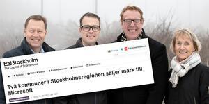 Kommunpolitiker och tjänstemän kunde le hur brett de ville angående att Microsoft beslutat att köpa mark häromkring. Det var ändå i Stockholm det skedde.