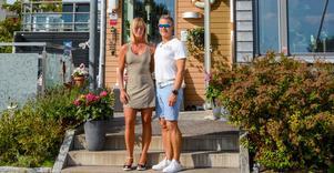 Jessica och Jonas stortrivs i kajhuset på Gävle Strand.