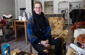 På fredagsmorgonen var det fortfarande inte helt klart i butiken, men när den öppnar på onsdag ska Helen Nyberg ha fått ordning på allt.